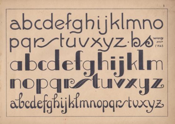 modèles d'alphabets